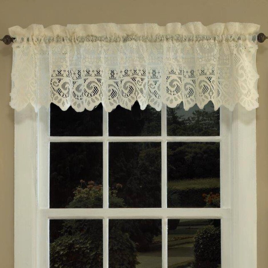 x tailored window valance p insert treatments lace panel dogwood