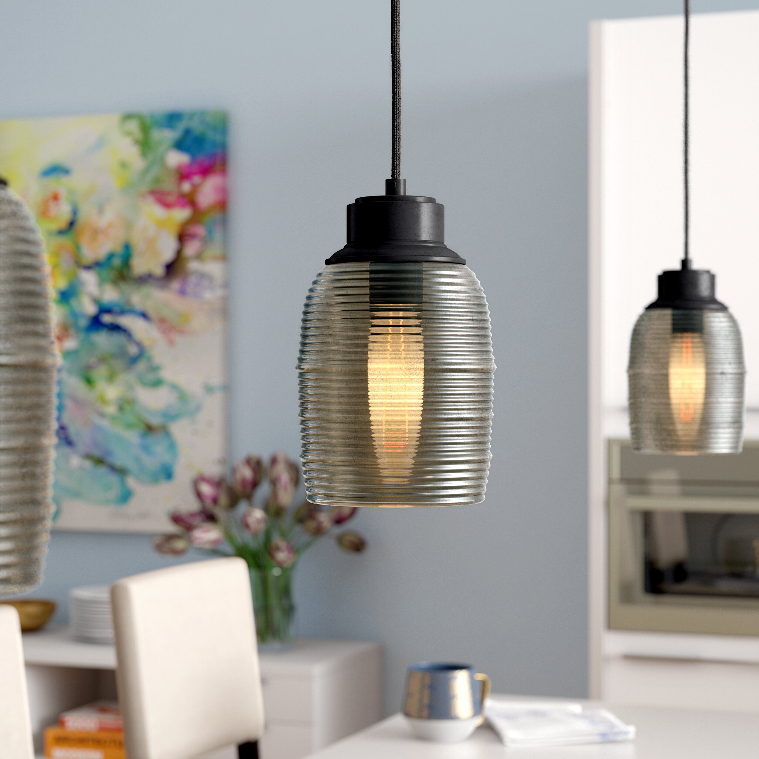 Latitude run snyder 1 light cylinder pendant wayfair