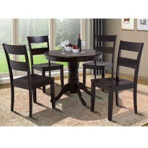 Cedarville 5 Piece Carved Wood Dining Set by Alc..