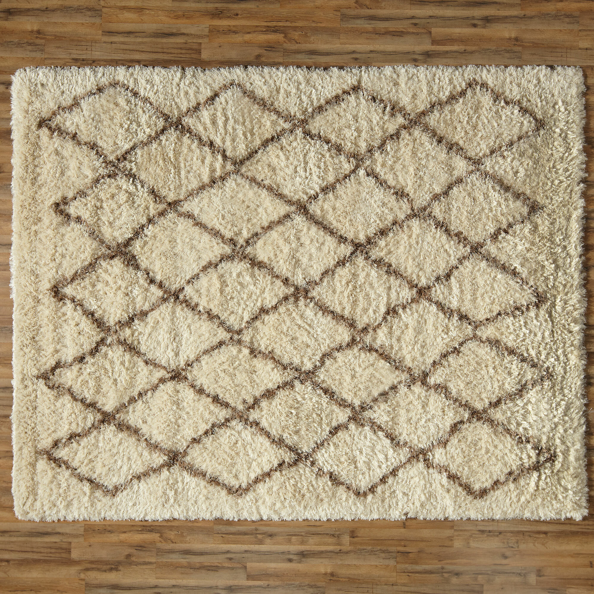 pin size trellis handmade ivory nuloom shag wool moroccan rug x brown
