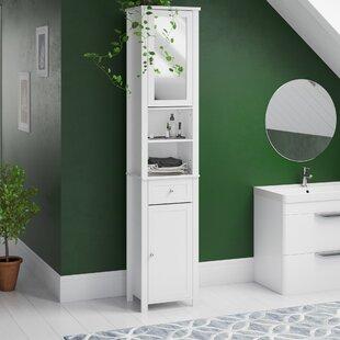 illuminated bathroom cabinet wayfair co ukvida milano 40 x 190cm mirrored free standing tall bathroom cabinet