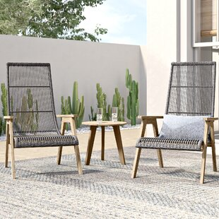 Largent 3 Piece Teak Complete Patio Set