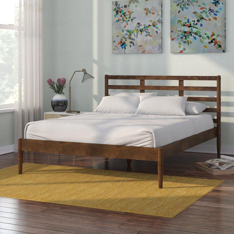 Jamar Mid Century Modern Platform Bed Corrigan Studio
