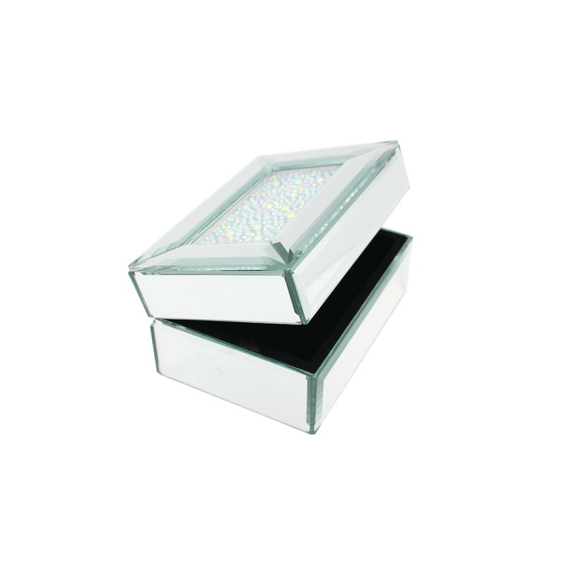 Danielle Creations Crystal Top Mirrored Jewelry Box & Reviews ...