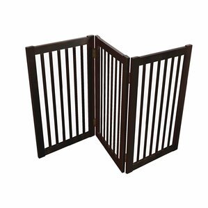 wood free standing folding pet gate