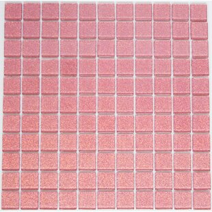 1 X Gl Mosaic Tile In Pink