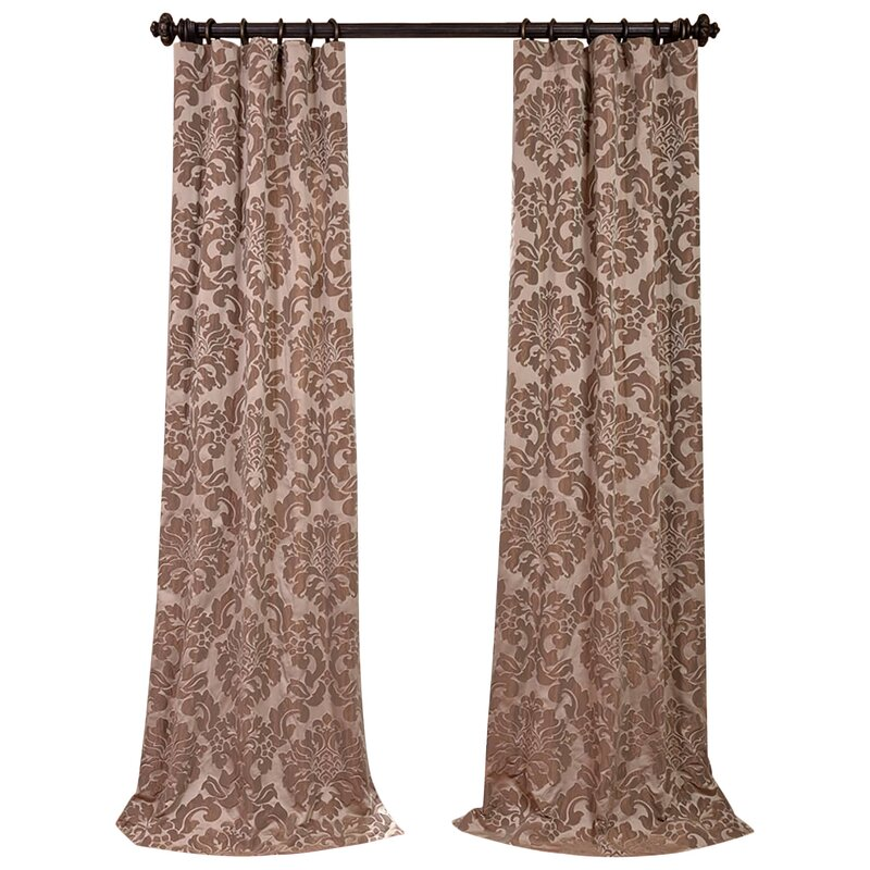 piece purple jacquard faux window total shop curtains curtain silk panels grommet x