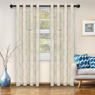 Incredible Natco Home Anaheim Geometric Grommet Single Curtain Panel Interior Design Ideas Clesiryabchikinfo