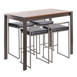 Gary 5 Piece Counter Height Dining Set