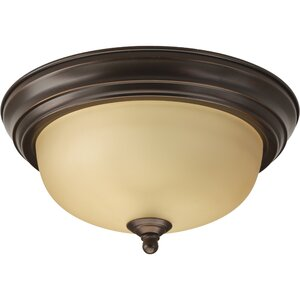 Constantia 1-Light Flush Mount in Antique Bronze