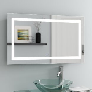 Vanity mirrors with lights youll love wayfair ries led lighted wall mirror aloadofball Images