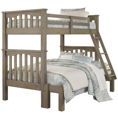 Greyleigh Bedlington Twin over Full Bunk Bed Size: Twin over Full, Bed Frame Color: Driftwood