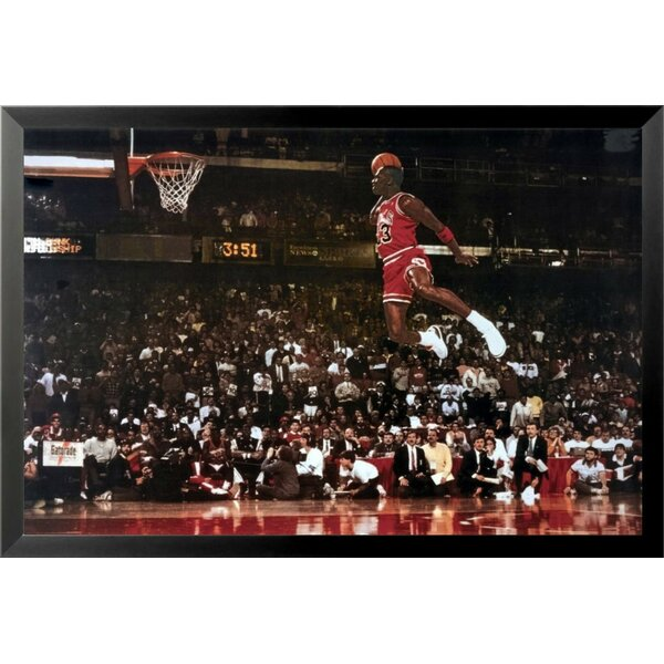 1fea4fe4e380 Buy Art For Less  Michael Jordan - Foul Line Dunk Sports - NBA Chicago  Bulls Superstar Legend  Framed Photographic Print   Reviews