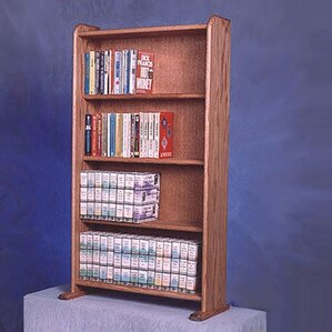 400 Series 160 DVD Multimedia Storage Rack by Wood Shed
