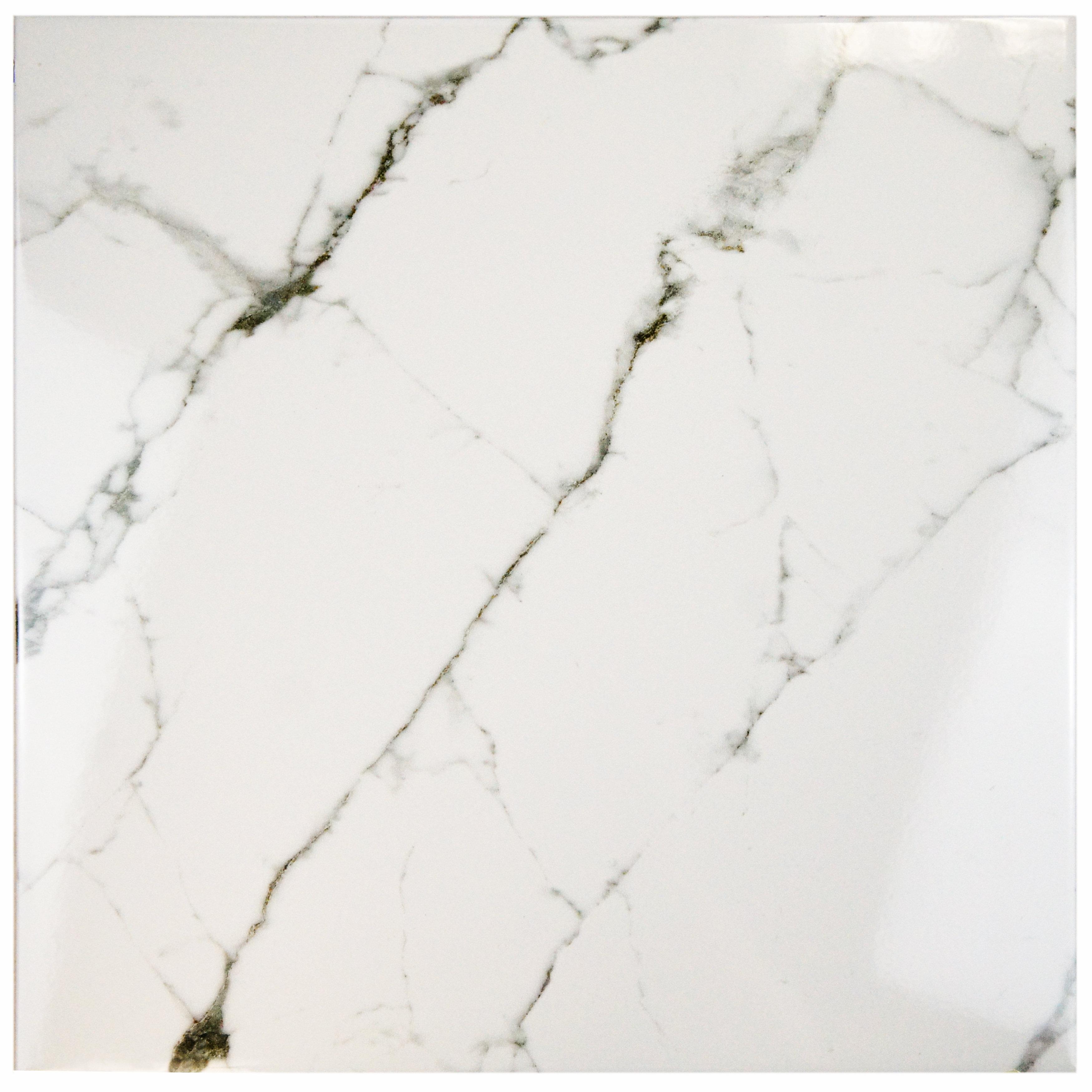 Elitetile Classique 18 X 18 Ceramic Field Tile In White Reviews