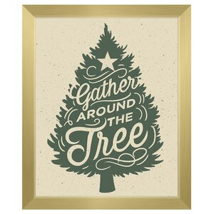 'Gather Around the Tree - Wall' Framed Textual Art