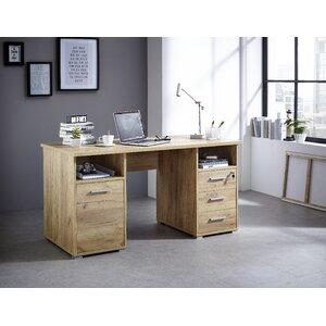 Schreibtisch Toboali mit 3 Schubladen und 1 Tür von dCor design
