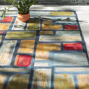 Aroma Blue Indoor/ Outdoor Area Rug