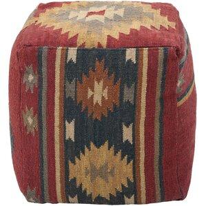 Berna Wool Cube Pouf Ottoman by Loon Peak