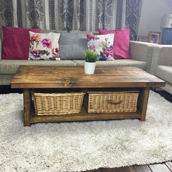 Wayfair Uk Glass Coffee Table: Brick & Barrow Double Spring Rustic Coffee Table & Reviews