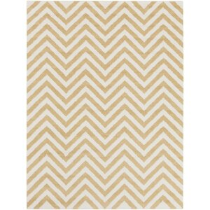 Greer Gold/Ivory Chevron Area Rug