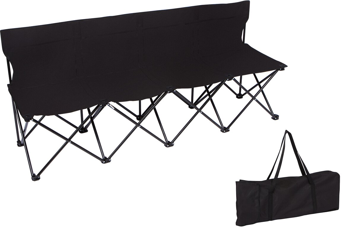 Trademark Innovations Sport Sideline Folding Camping Bench