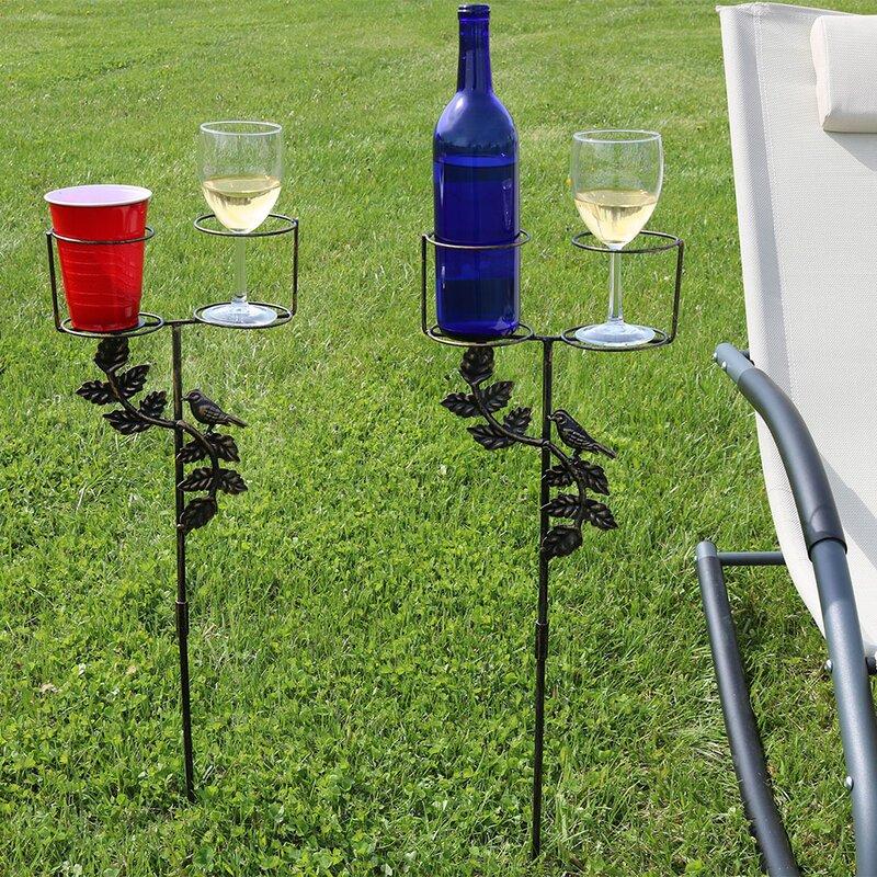 SunnyDaze Decor Drink Holder Garden Stake with Decorative Accents & Reviews  | Wayfair.ca - SunnyDaze Decor Drink Holder Garden Stake With Decorative Accents