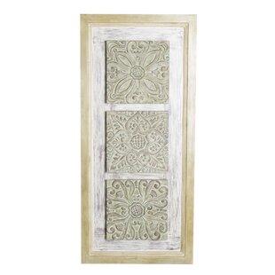Carved Wooden Wall Art Panel Wayfair Co Uk