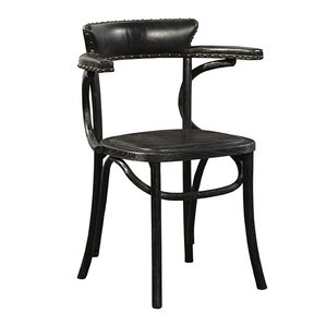 Saddle Genuine Leather Upholstered Dining Chair by R. Douglas Home