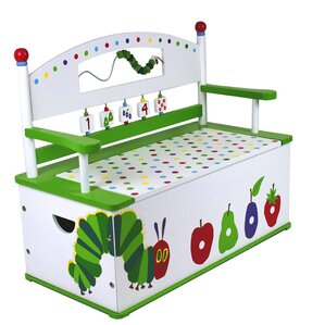 The Very Hungry Caterpillar Kids Bench with Storage Compartment by Levels of Discovery