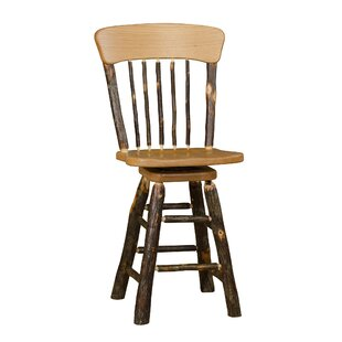 Waloo Panel Back 24 Swivel Bar Stool