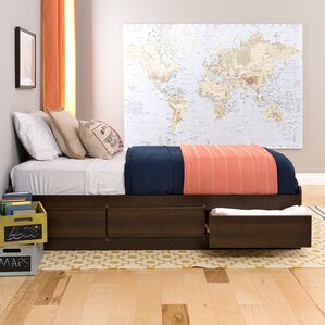 valerio extra long twin platform bed with storage