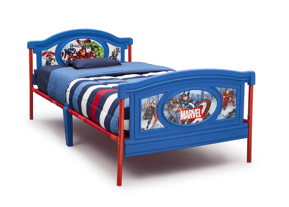 Avengers Twin Panel Bed  sc 1 st  Wayfair & Delta Children Avengers Twin Panel Bed u0026 Reviews | Wayfair
