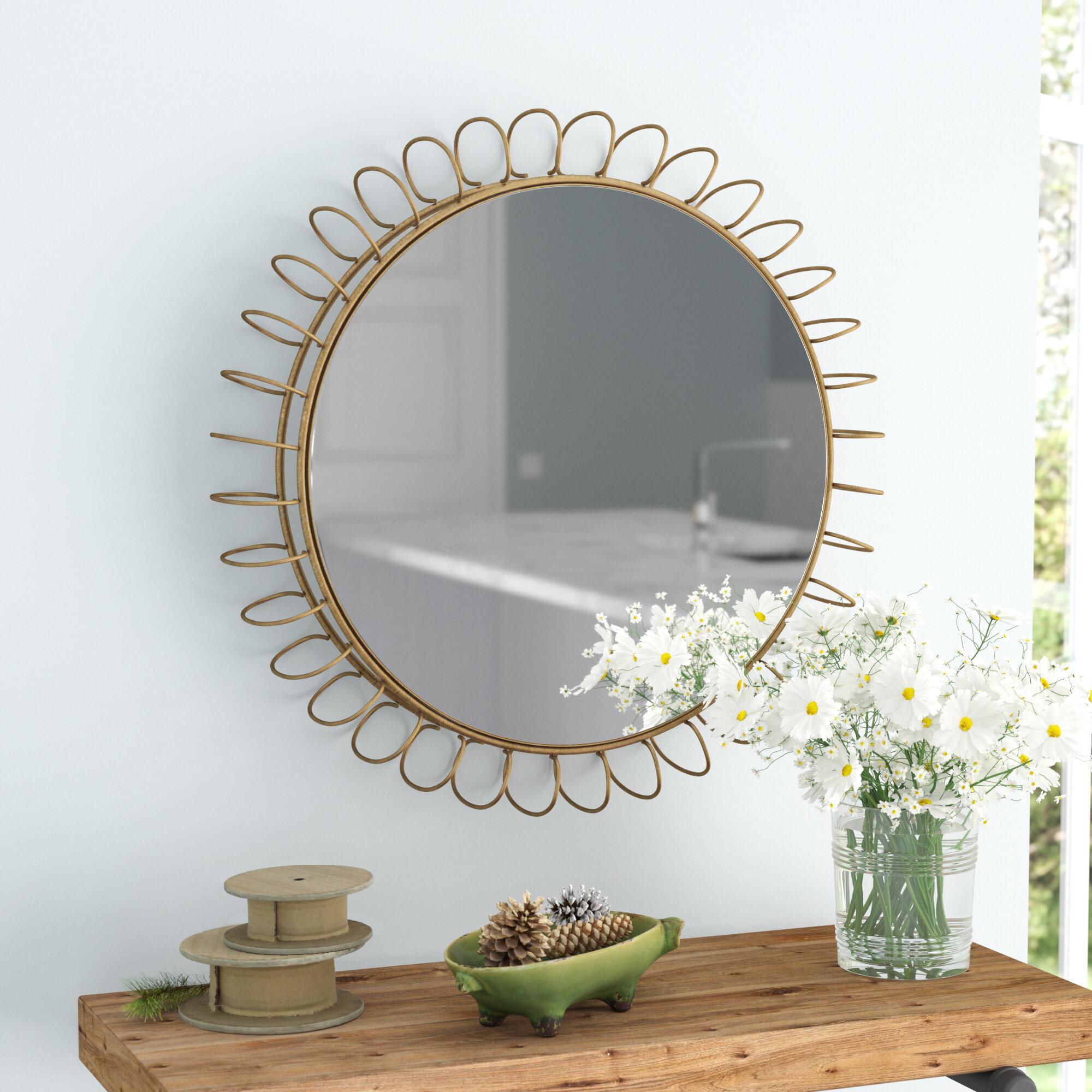 mirror with dfs decor mirrored trimirror wonderful triple shelves glass shelf homes