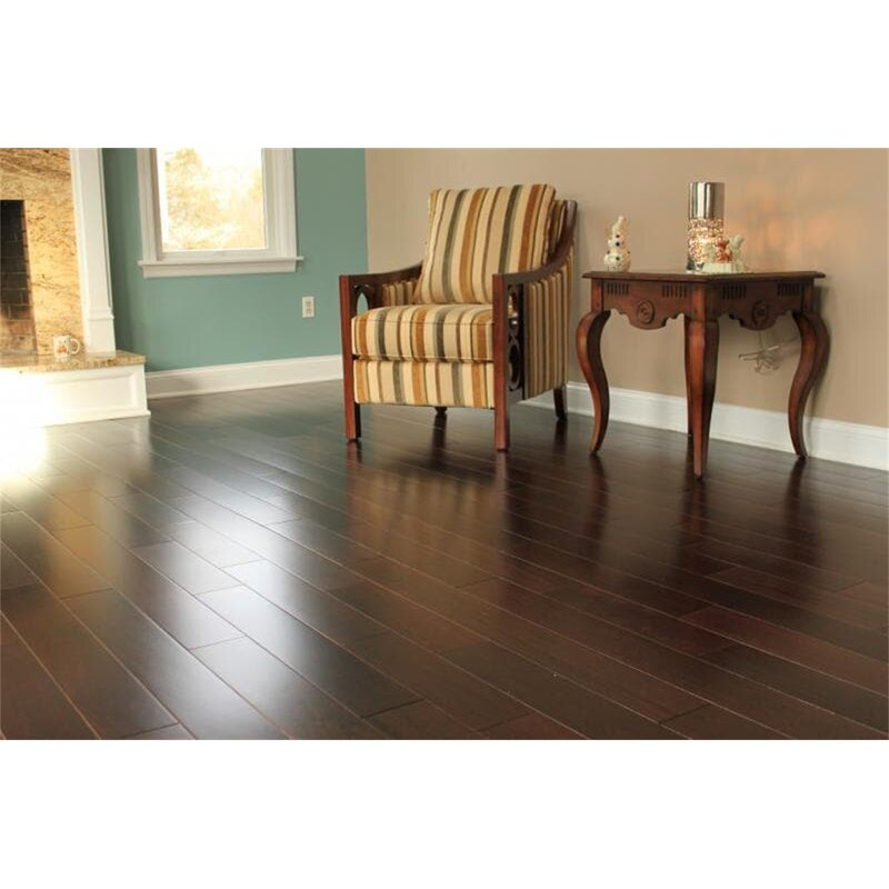 Welles Hardwood Ashton 5 Solid Teak Hardwood Flooring In Espresso