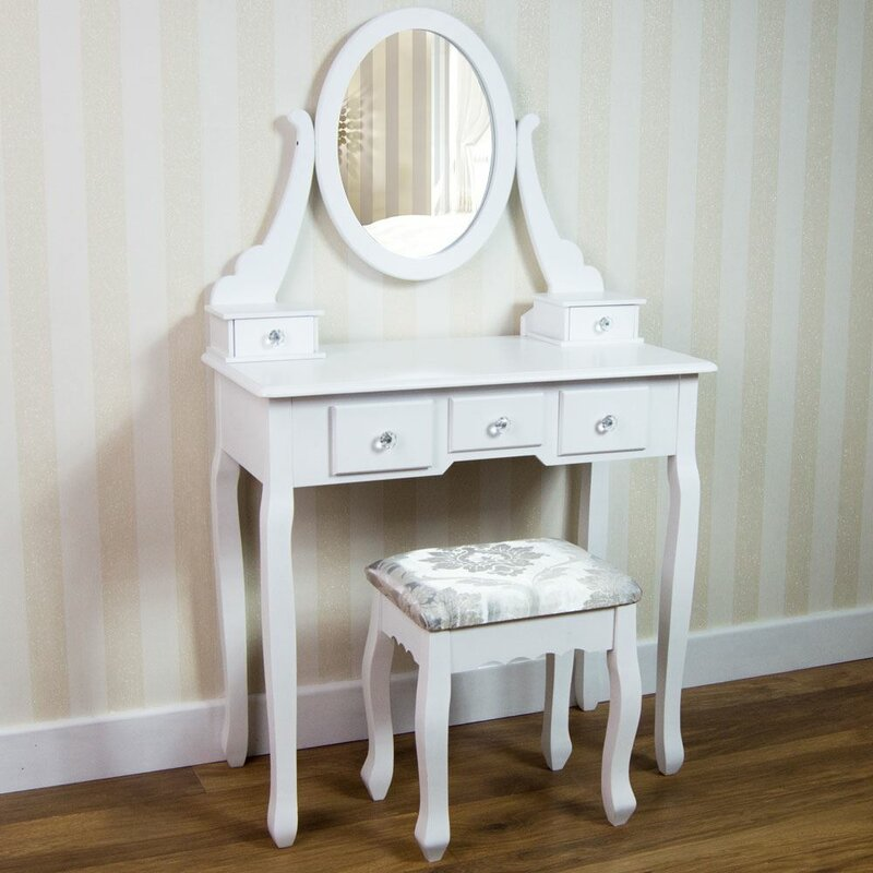 Rosalind Wheeler Vida Nishano Dressing Table Set With Mirror