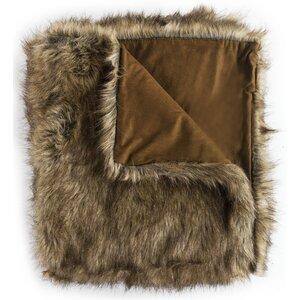 Wolf Faux Fur Throw Blanket