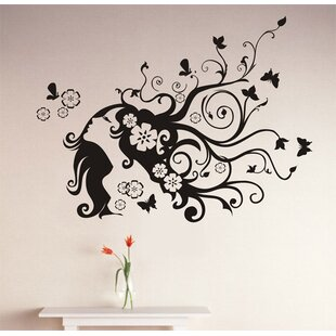 Flower Girl Wall Decal