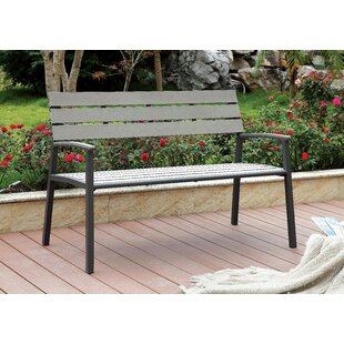 cb7da693937 Ahart Transitional Metal Garden Bench