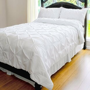White Pinch Pleat Bedding Wayfair