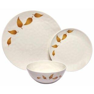 Zellner Leaves 12 Piece Melamine Dinnerware Set (Set of 4)  sc 1 st  Wayfair & Mediterranean Dinnerware   Wayfair