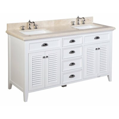 "Bathroom Vanities Lakeland Fl kbc savannah 60"" double bathroom vanity set & reviews 
