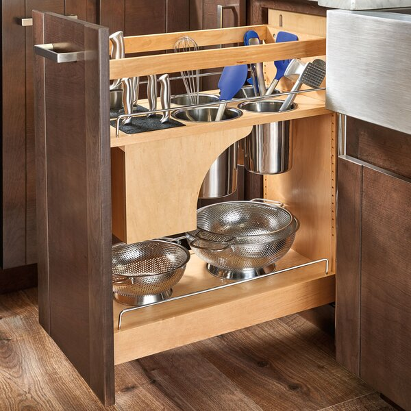 Pull Out Cabinet Base Cabinet Pull Out Shelves Pull Out: Rev-A-Shelf Pull-Out Wood Base Cabinet Organizer & Reviews