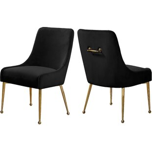 Stovall Velvet Upholstered Dining Chair (Set of 2)