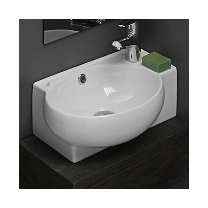 Mini Vessel Bathroom Sinks.Cerastyle By Nameeks Mini Ceramic Vessel Bathroom Sink With Overflow