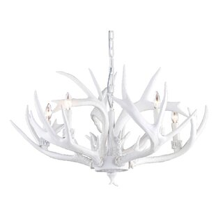 White antler chandelier wayfair 5 light candle style chandelier mozeypictures Image collections