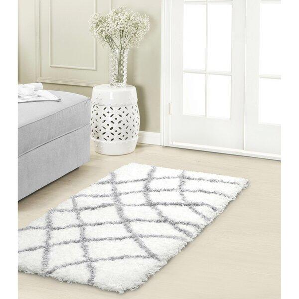 Vista Living Diamond Chunky Shag Grey/White Area Rug U0026 Reviews | Wayfair.ca