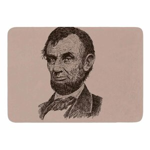 Abraham Lincoln by Banjarmasin Memory Foam Bath Mat