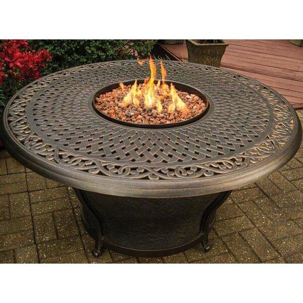 attractive Gas Fire Pit Tables Part - 2: TK Classics Charleston Aluminum Gas Fire Pit Table u0026 Reviews   Wayfair