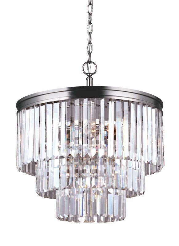 Domenique traditional 4 light crystal chandelier reviews allmodern domenique traditional 4 light crystal chandelier aloadofball Choice Image